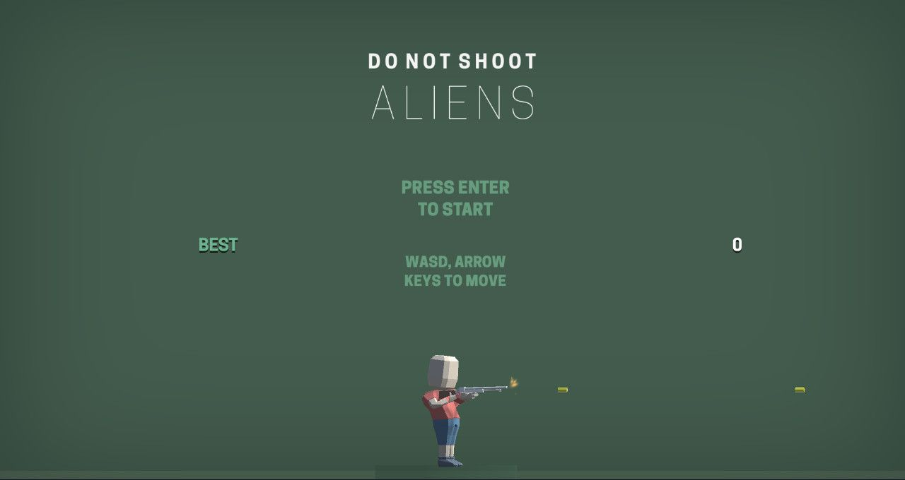 Don't Shoot Aliens- Free To Play on The Little Game Factory - Screenshot 1